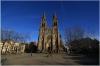 Náměstí Míru a kostel sv. Ludmily