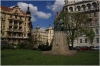 Jiráskovo náměstí a socha Aloise Jiráska