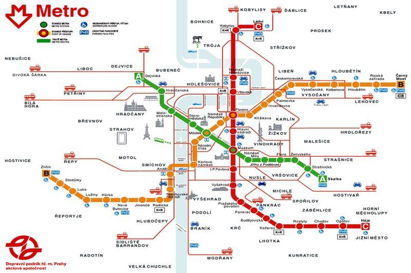 Plan Prazskeho Metra