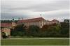 Pražský hrad - Produkční zahrady , v pozadí Černínský palác