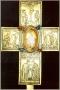 Svatovítský poklad - zlatý relikviářový kříž s rytými obrazy