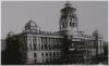 Praha 1 - horní část Václavského náměstí stavba budovy Národního muzea 1888