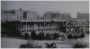 Praha 1 - horní část Václavského náměstí stavba budovy Národního muzea 1886