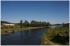 Praha 7 - pohled na Vltavu z lávky