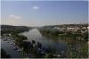 Pohled z Vyšehradu na Podolí a Vltavu