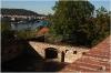 Vyšehrad - dělová bašta a výhled na Vltavu a Pražský hrad