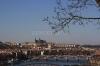 Vyšehrad - výhled z Vyšehradu na Vltavu a Pražský hrad