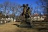 Vyšehrad - sochy - J.V.Myslbek Ctirad a Šárka