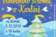 Slavnostní rozsvěcení vánočního stromu v Karlíně