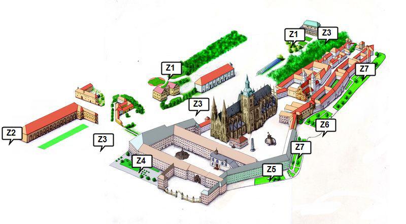 Zahrady Prazského Hradu