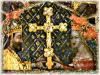 Karel IV. s manzelkou pozdvihuji kriz