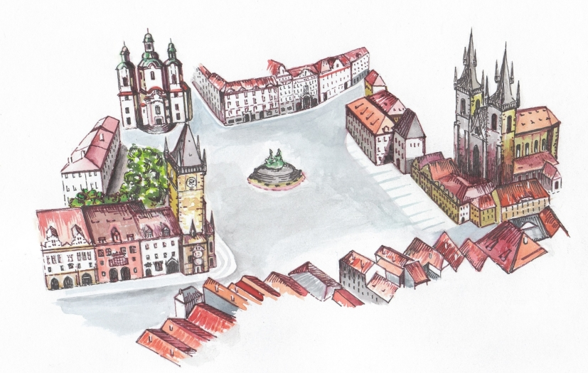 Prague City Line » Prague Old Town Square on old town krakow poland map, old town san diego map, old town dubrovnik croatia map, finland helsinki map tourist,