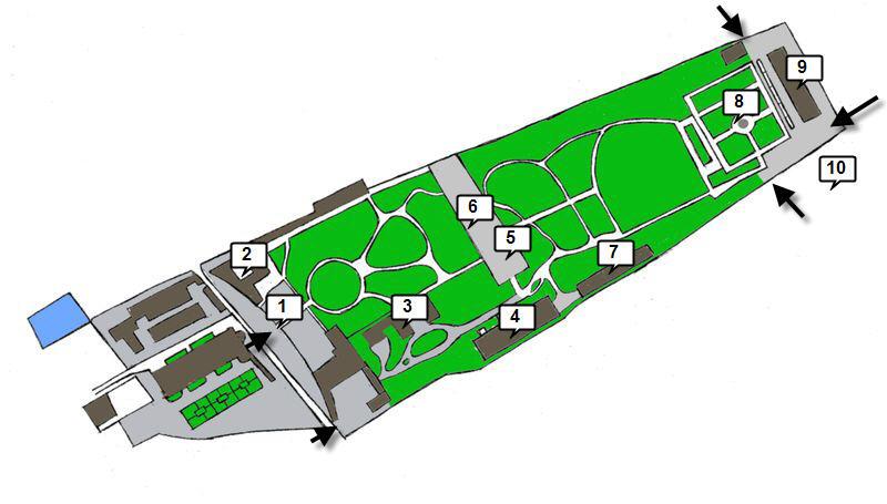 kralovska zahrada prazskeho hradu_cislovane