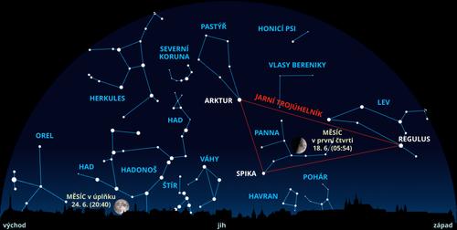Mapa nocni oblohy_Stefanikova hvezdarna