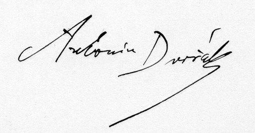 Antonin_Dvorak_podpis