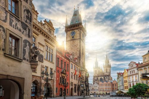 Sunrise on Old Town Square Prague