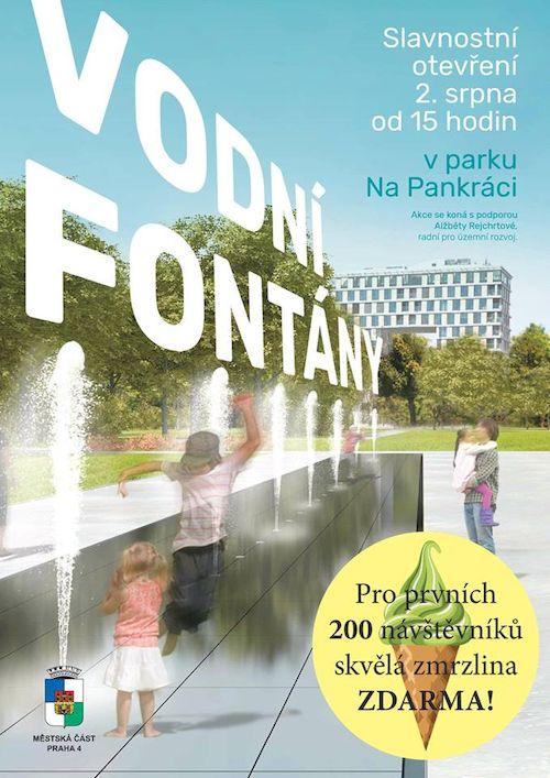 Vodni fontany v parku Na Pankraci